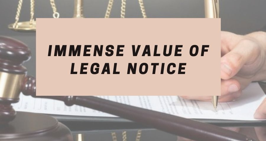 A lawyer writing legal notice for client